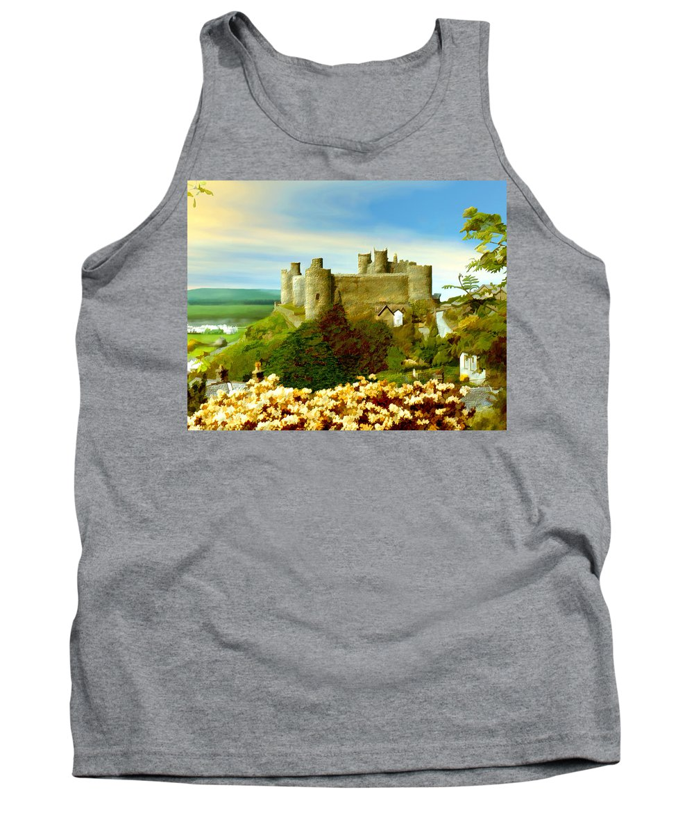 Castles Tank Top featuring the photograph Harlech Castle by Kurt Van Wagner