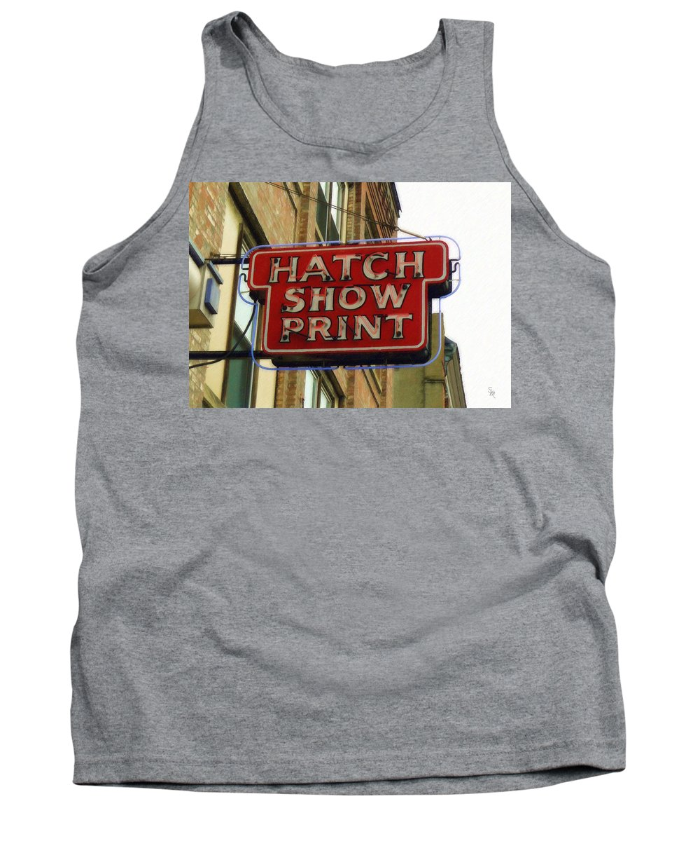 Hatch Tank Top featuring the painting Hatch Show Print by Sandy MacGowan