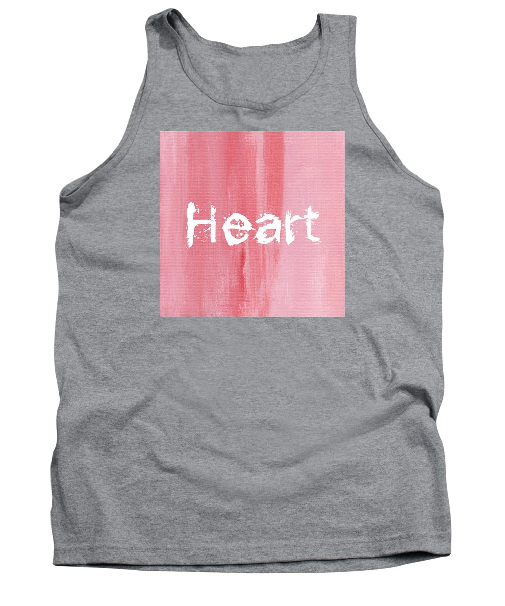 Love Tank Top featuring the mixed media Heart by Kathleen Wong