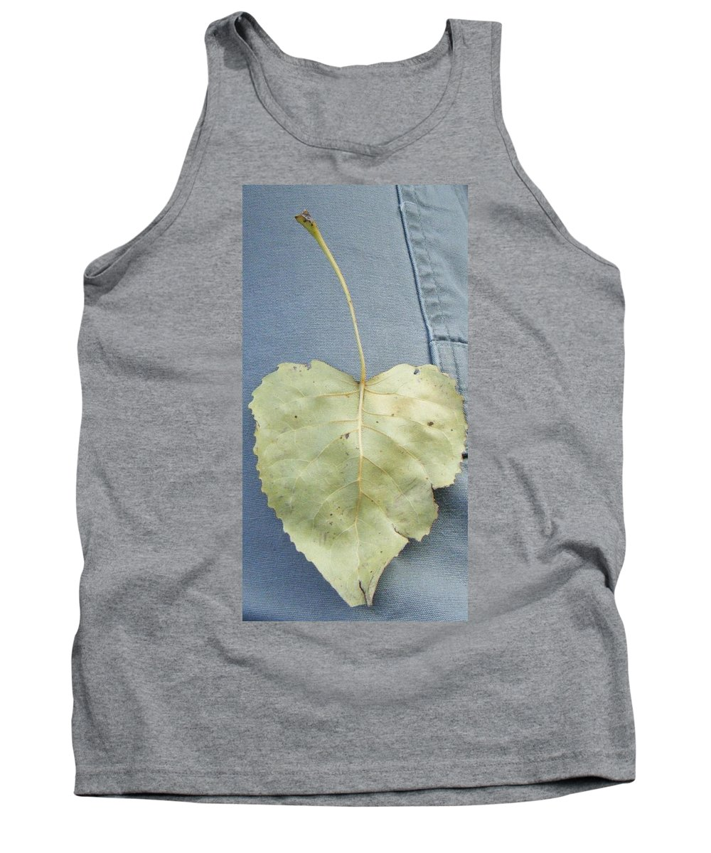 Tank Top featuring the photograph Heart Leaf by Christy Hicks