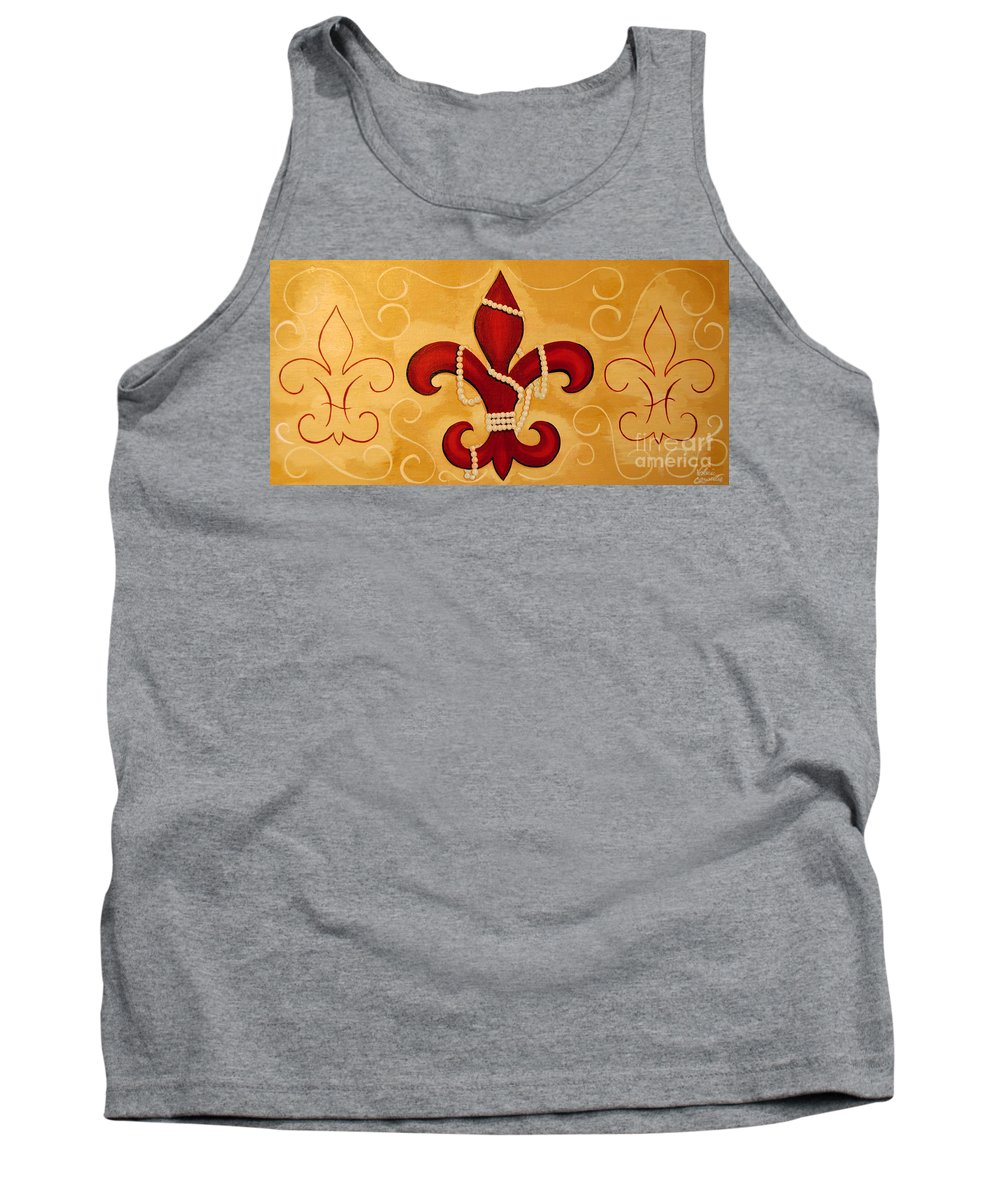 Fleur De Lis Tank Top featuring the painting Heart Of New Orleans by Valerie Carpenter