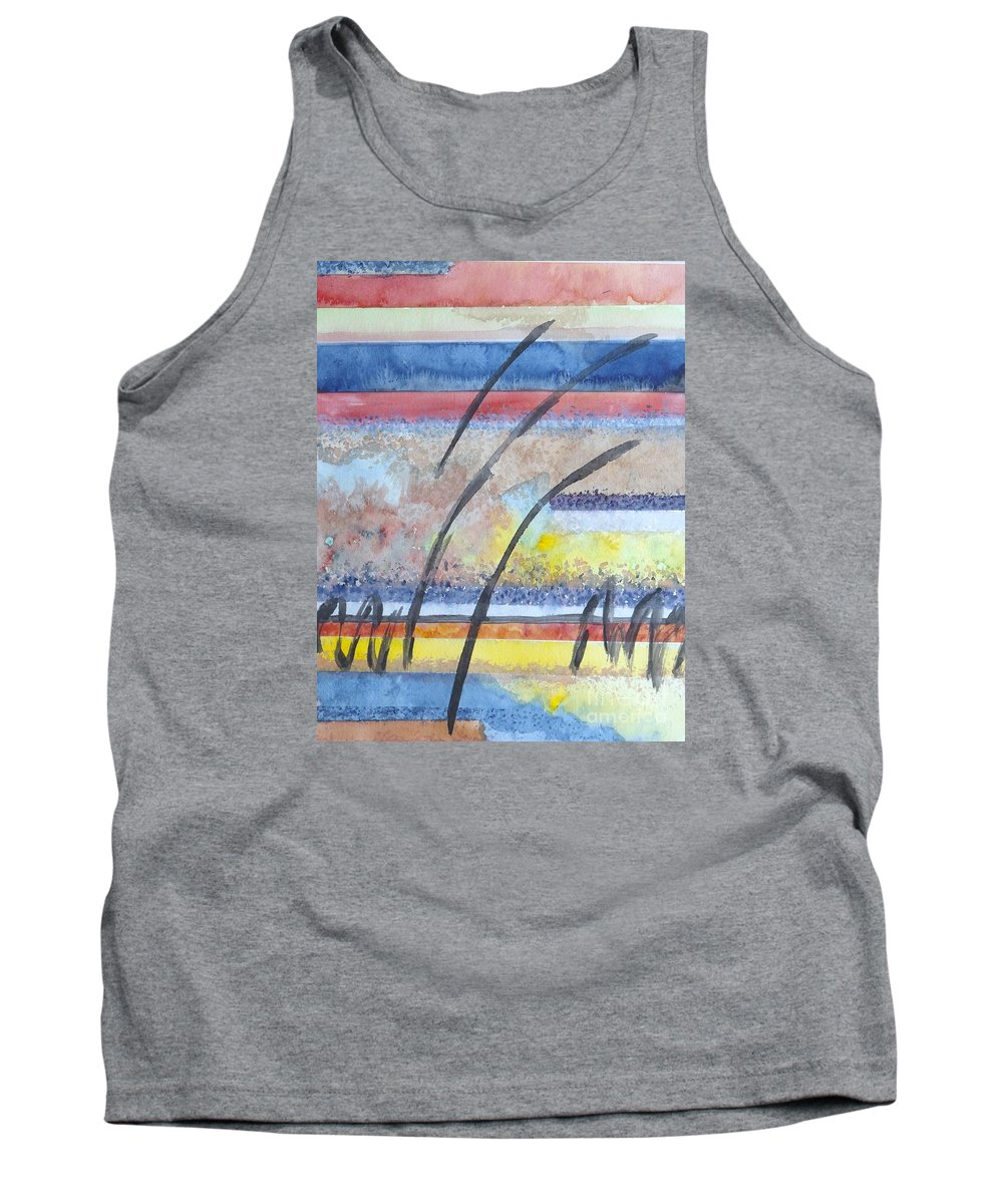 Abstract Tank Top featuring the painting Heartbeat by Jacqueline Athmann