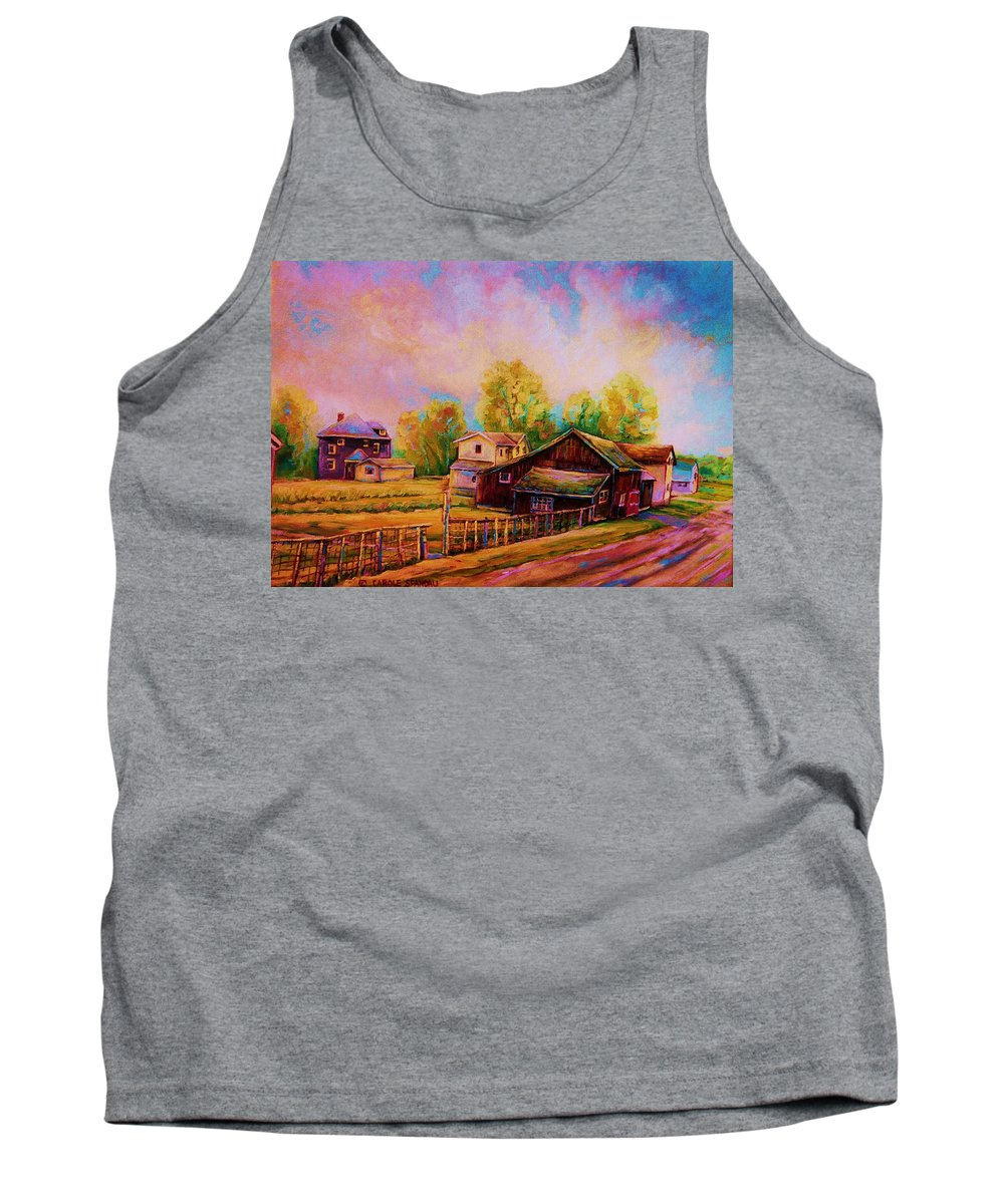 Landscape Tank Top featuring the painting Hearth And Home by Carole Spandau