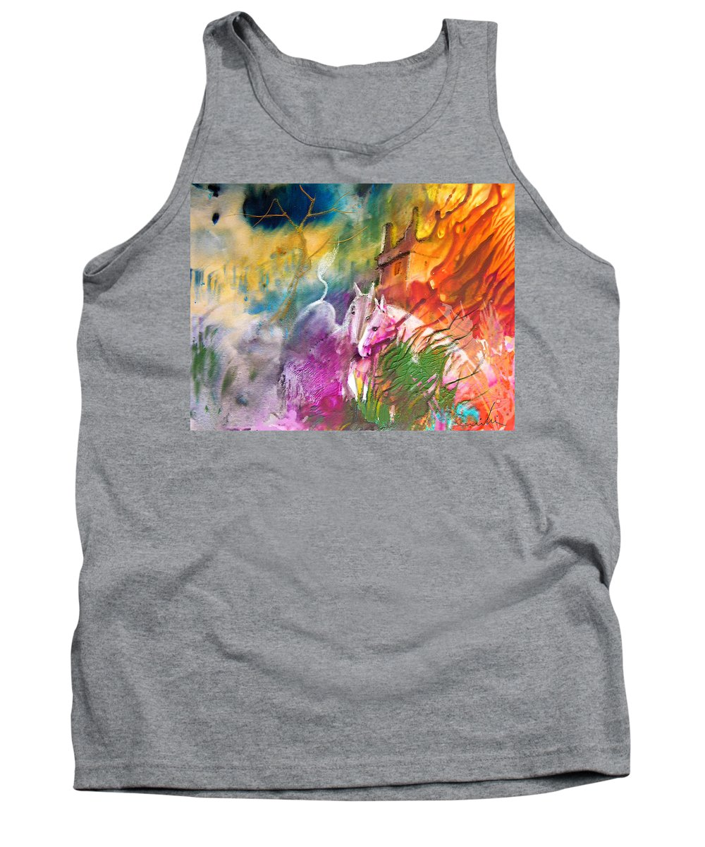 Love Tank Top featuring the painting Hearts In Fire by Miki De Goodaboom