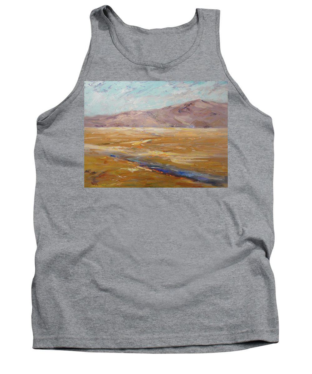 Landscape Tank Top featuring the painting Heavenly Diablo by Shannon Grissom