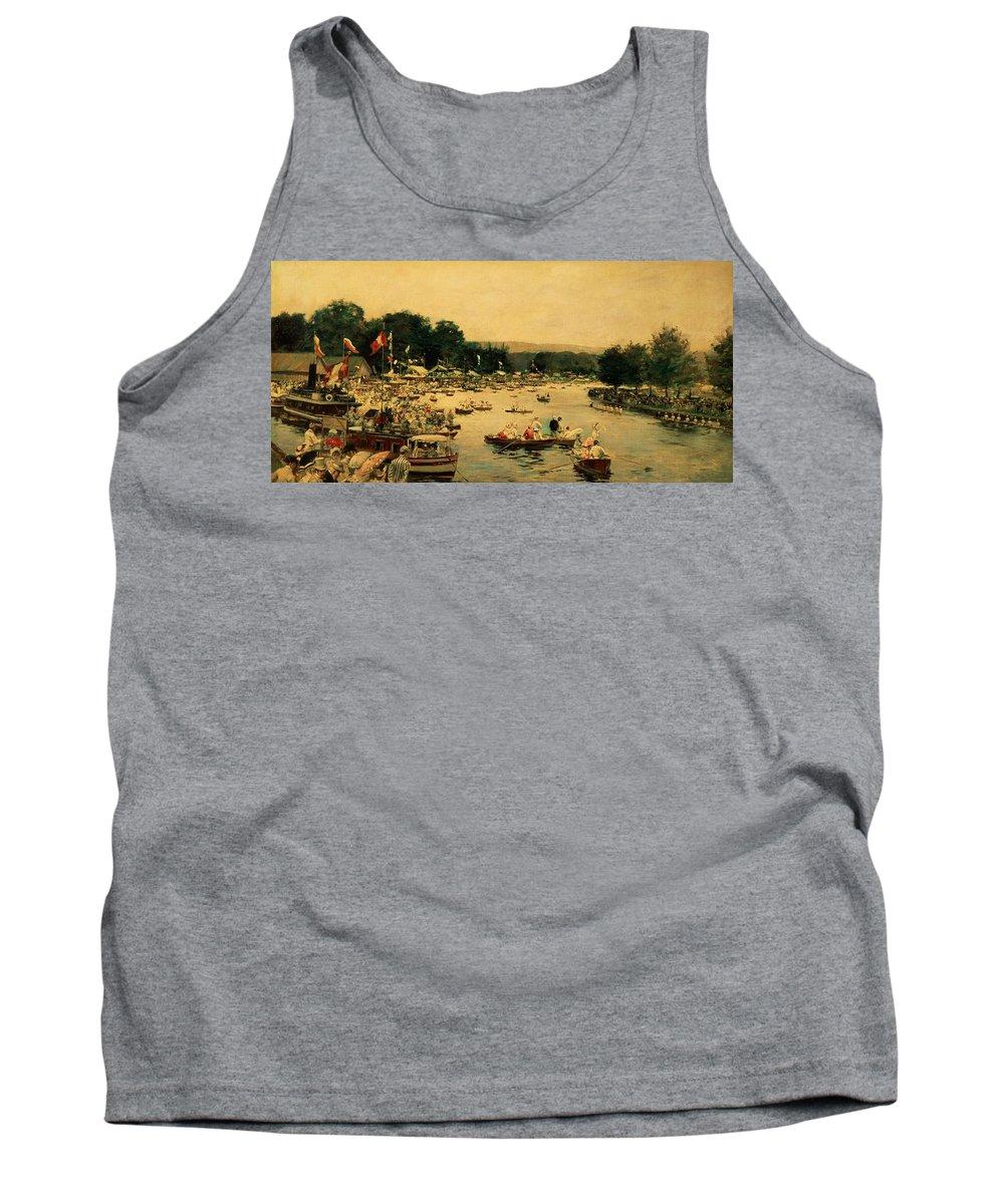 Henley Regatta Tank Top featuring the painting Henley Regatta by James Jacques Joseph Tissot