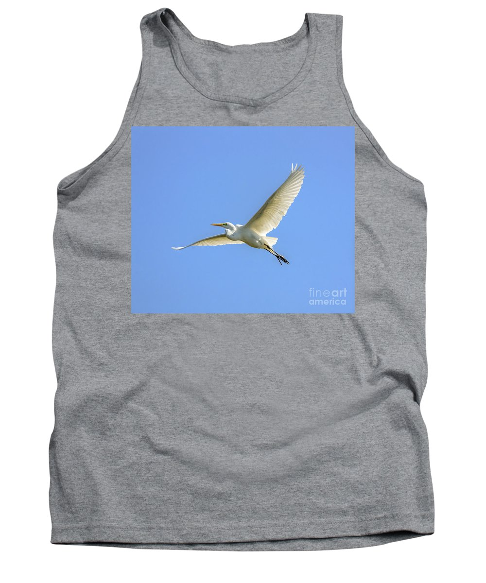 Cutts Nature Photography Tank Top featuring the photograph Heron Flying High by David Cutts
