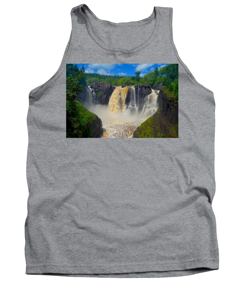 High Falls Tank Top featuring the photograph High Falls In July by Hella Buchheim