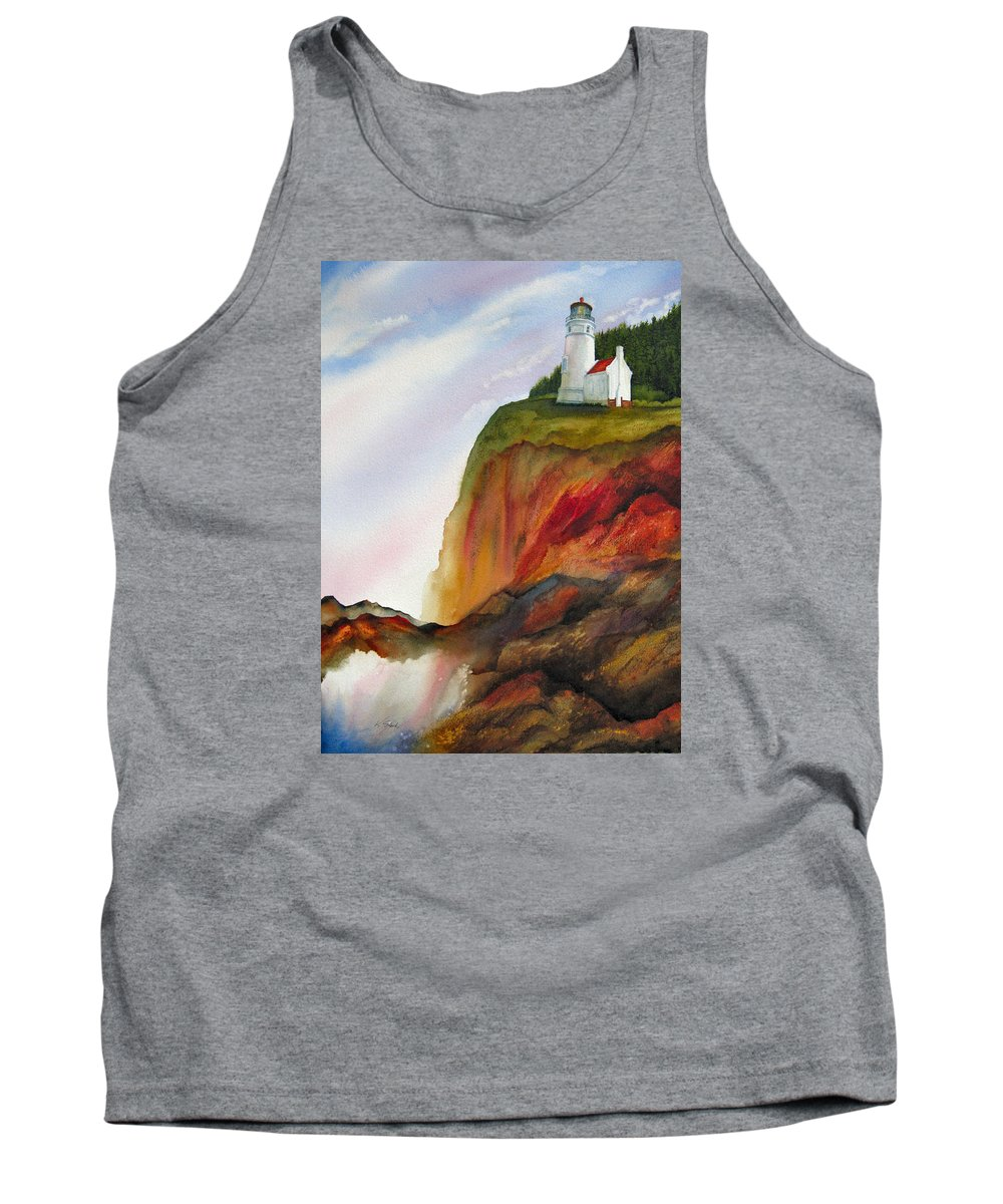 Coastal Tank Top featuring the painting High Ground by Karen Stark