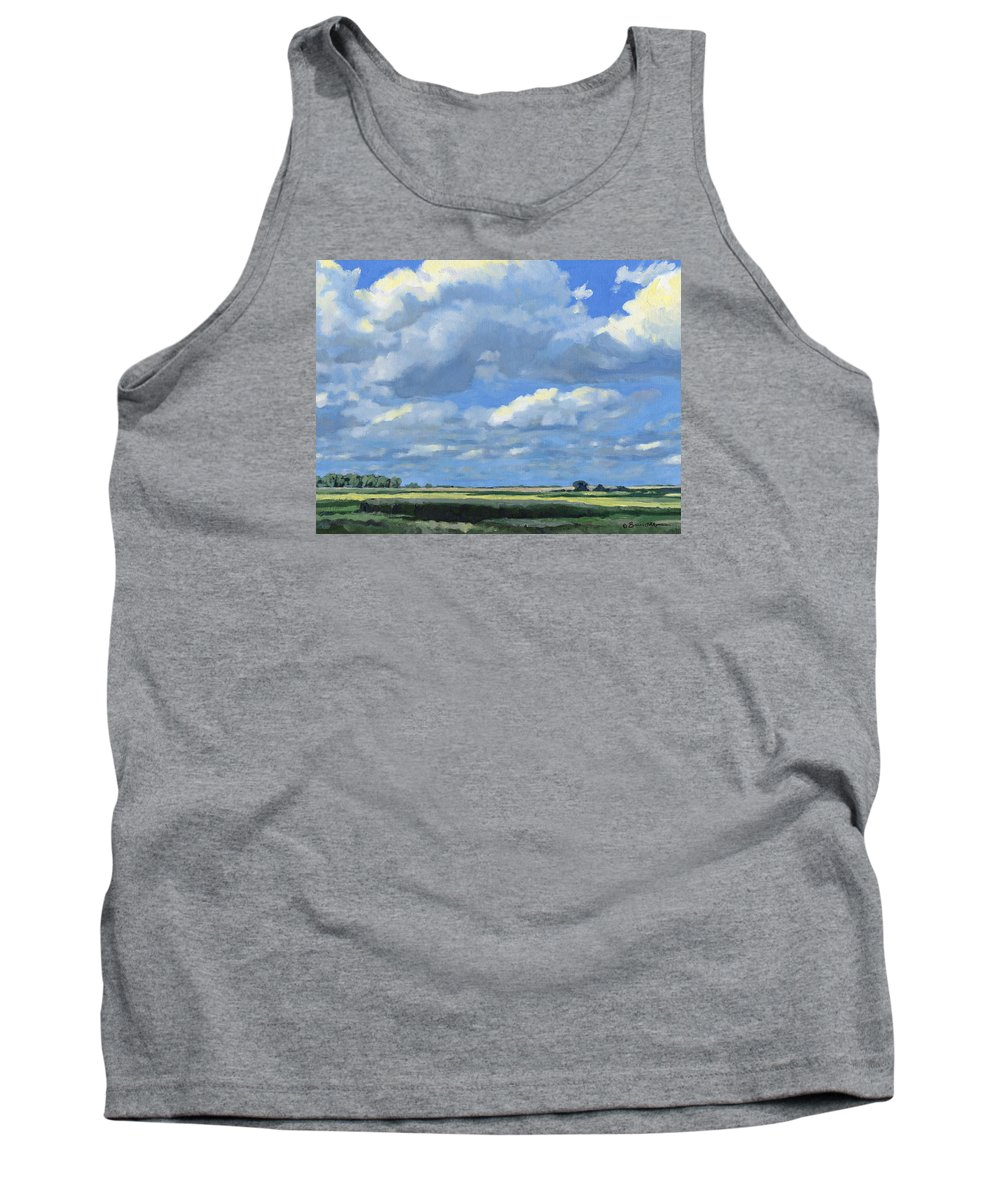 Landscape Tank Top featuring the painting High Summer by Bruce Morrison