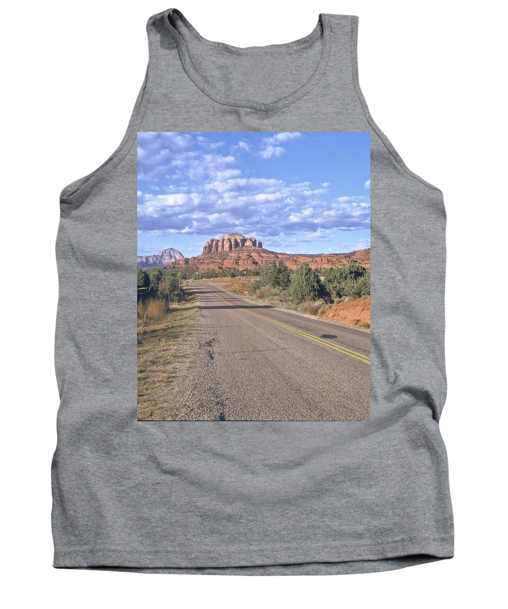 Sedona Tank Top featuring the photograph Highway To Sedona by Gary Wonning