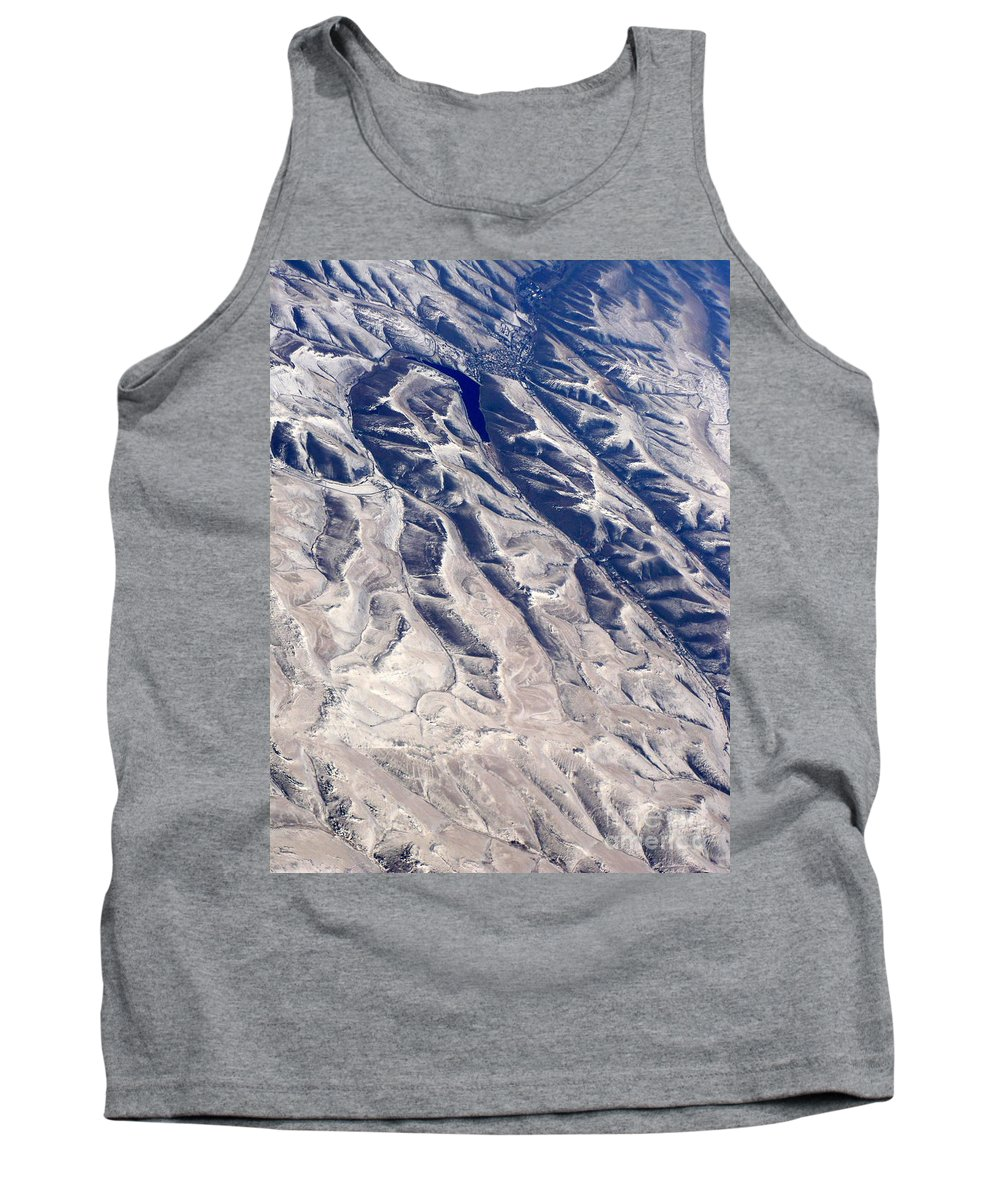 Aerial Tank Top featuring the photograph Hills And Valleys Aerial by Carol Groenen