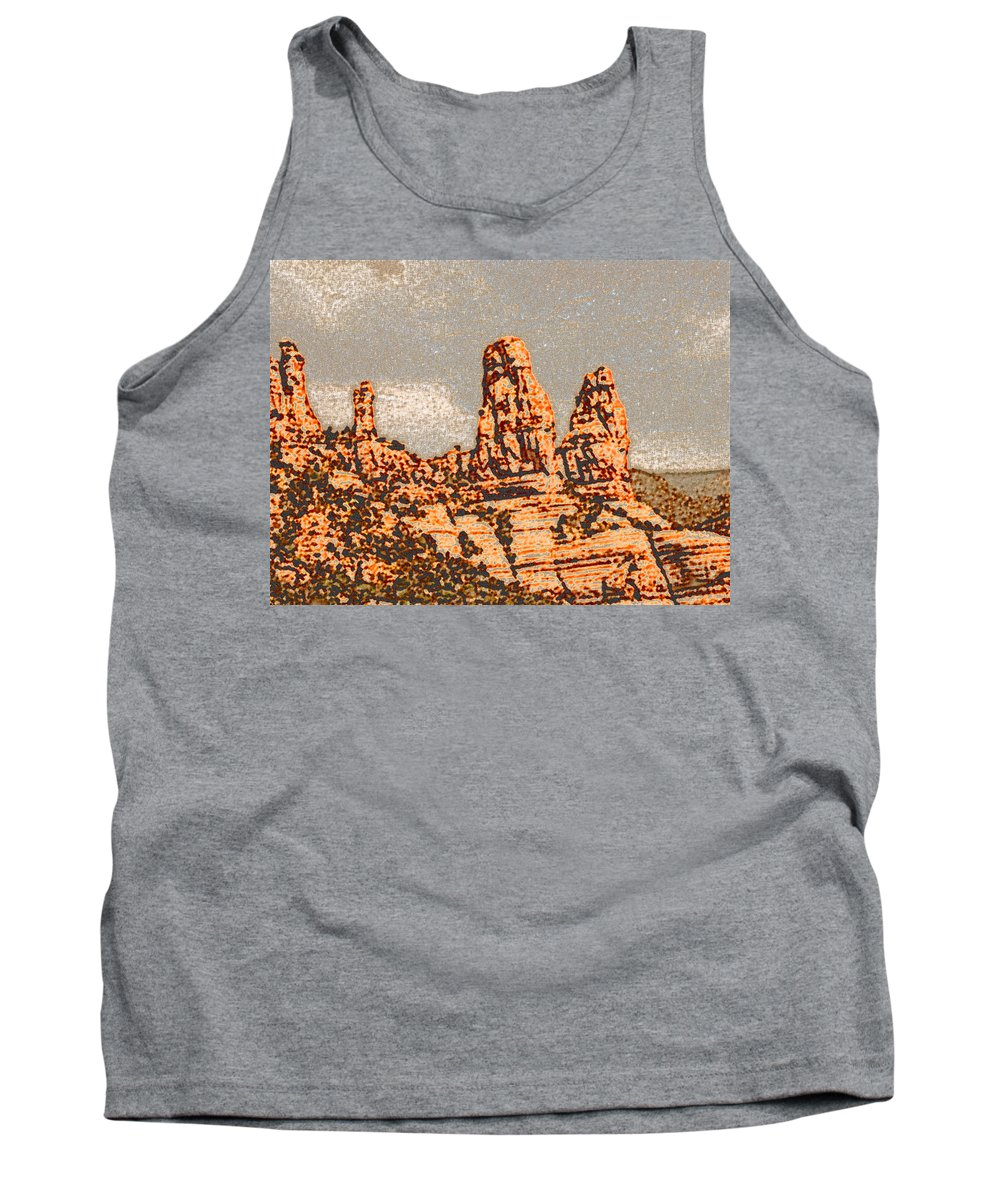 Altered Photography Tank Top featuring the photograph Hills In Sedona by Wayne Potrafka