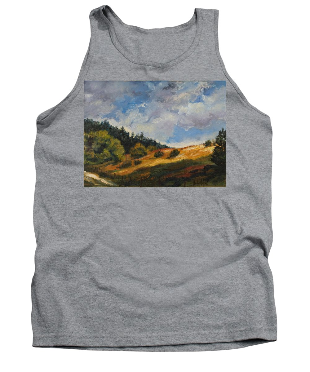 Hills Tank Top featuring the painting Hills by Rick Nederlof