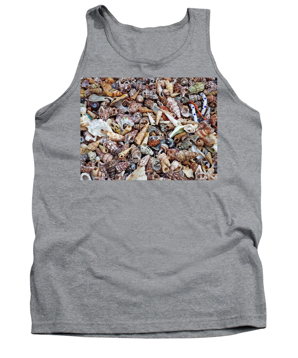 Shells Tank Top featuring the photograph Holiday Harvest by Charles Stuart