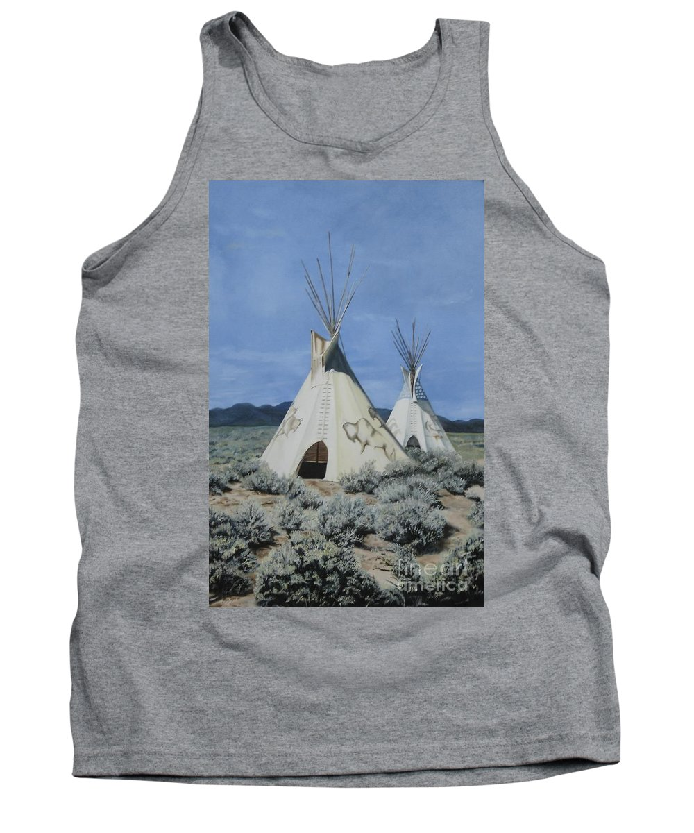 Art Tank Top featuring the painting Home On The Range by Mary Rogers