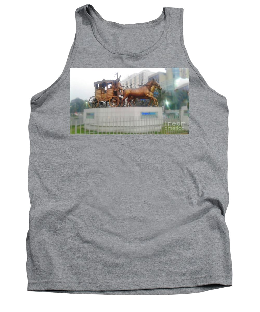 Horse Man Stick Nice Sky While Rope Tank Top featuring the photograph Land Owner by Shuvo Sarker