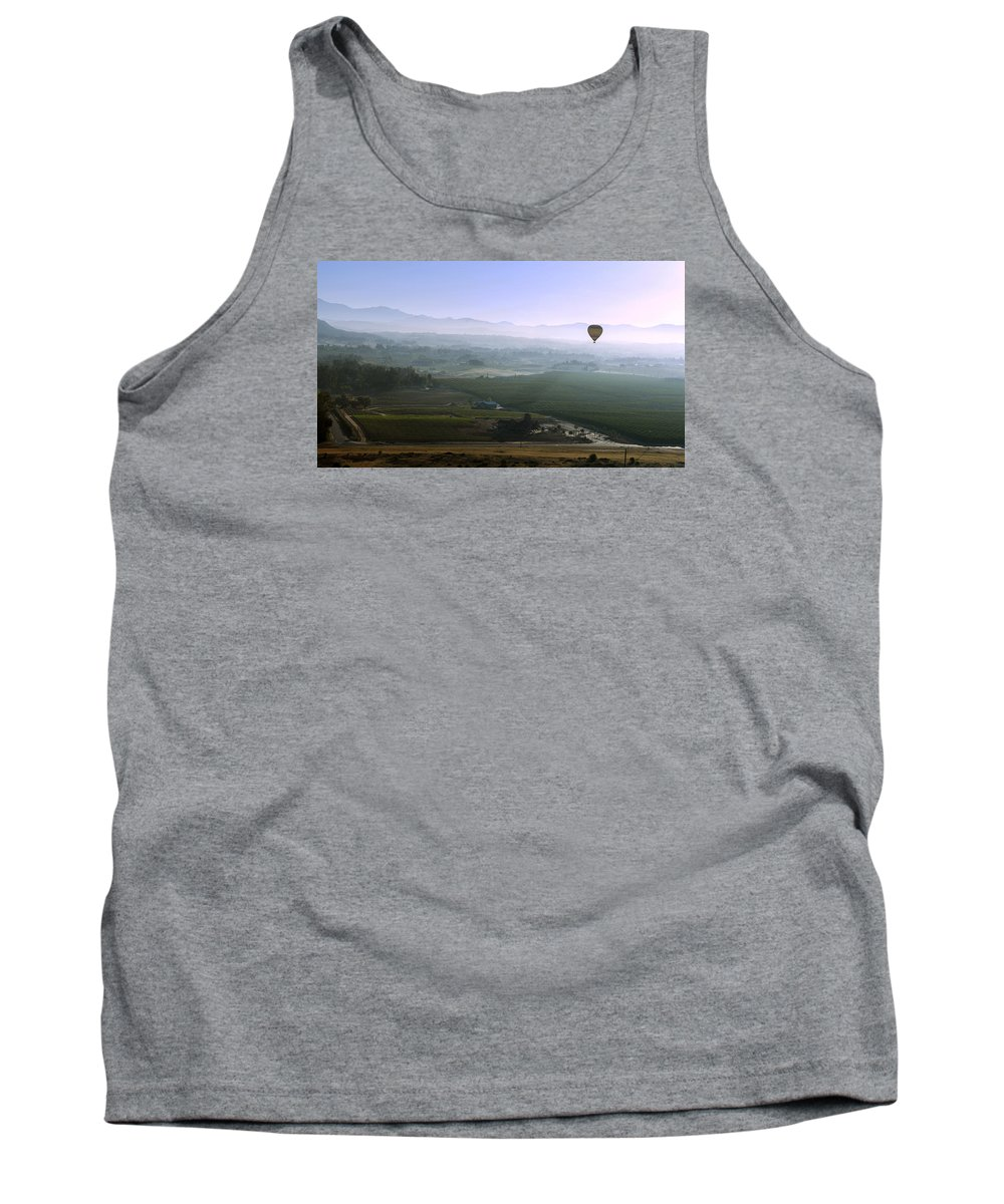 Hot Tank Top featuring the photograph Hot Air Baloon Temecula Ca by Jaime Pomares