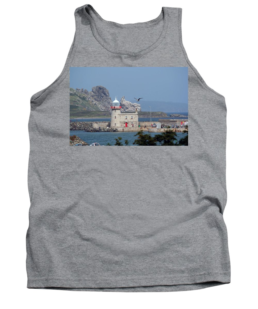 Howth Lighthouse Tank Top featuring the photograph Howth Lighthouse 0005 by Carol Ann Thomas