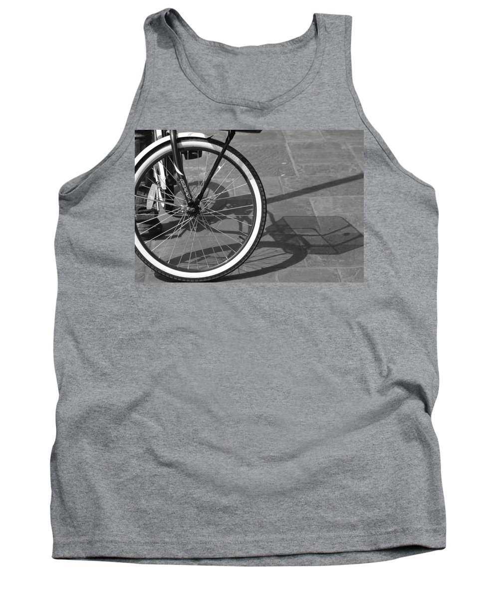 Bicycle Tank Top featuring the photograph Huffy Shadow by Lauri Novak