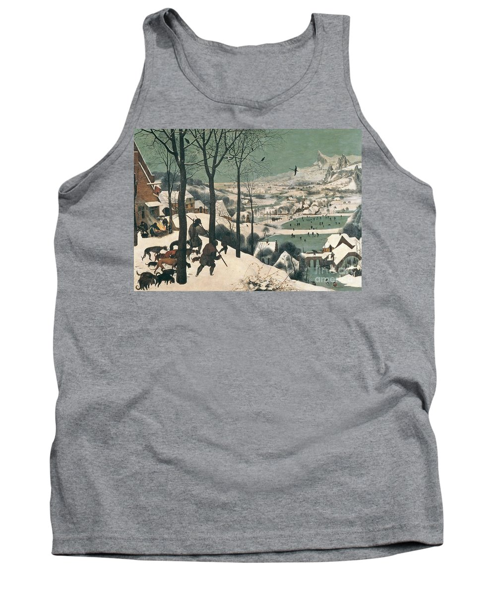 Hunters Tank Top featuring the painting Hunters In The Snow by Pieter the Elder Bruegel