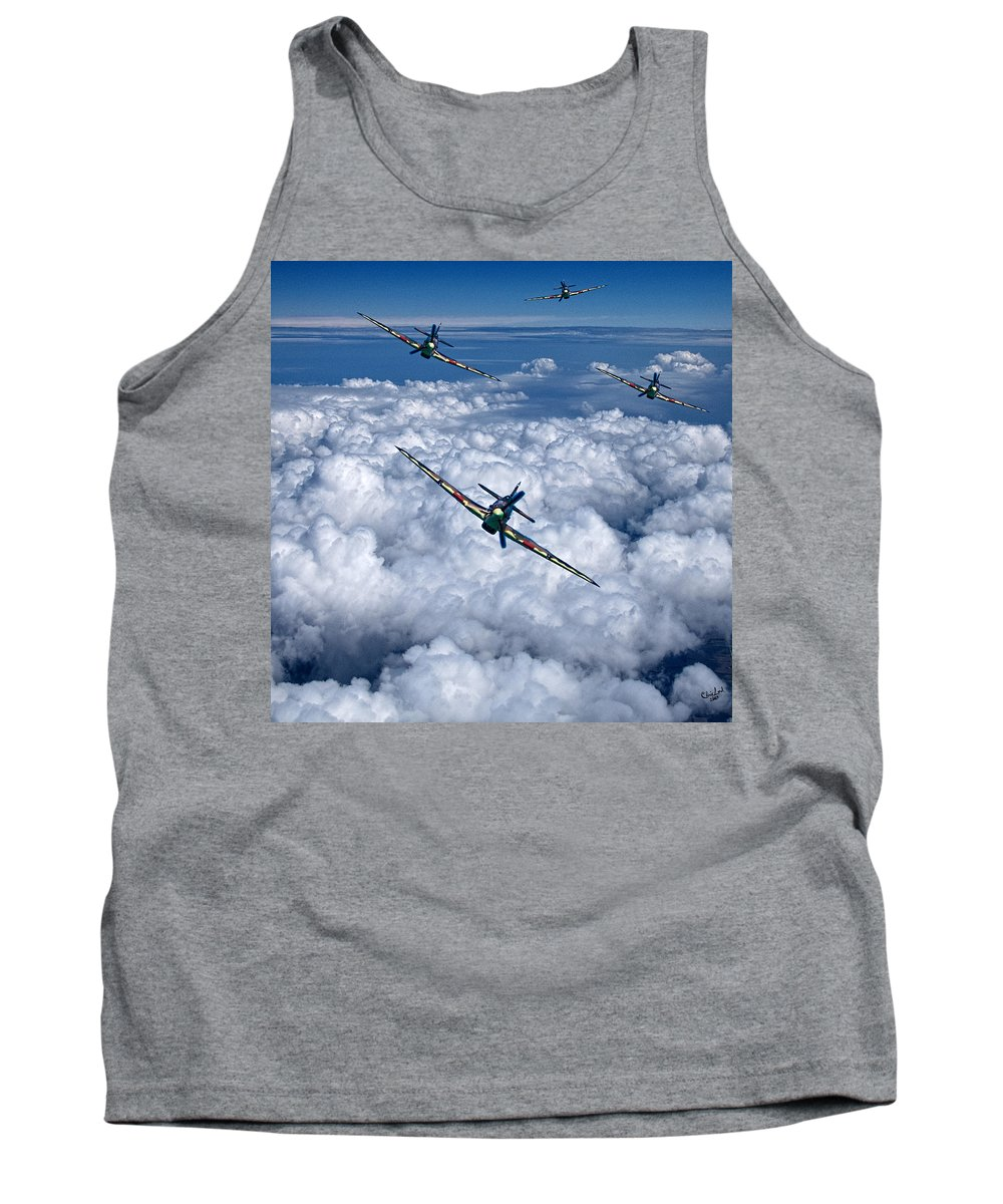 Hawker Tank Top featuring the photograph Hurricanes On Your Tail by Chris Lord
