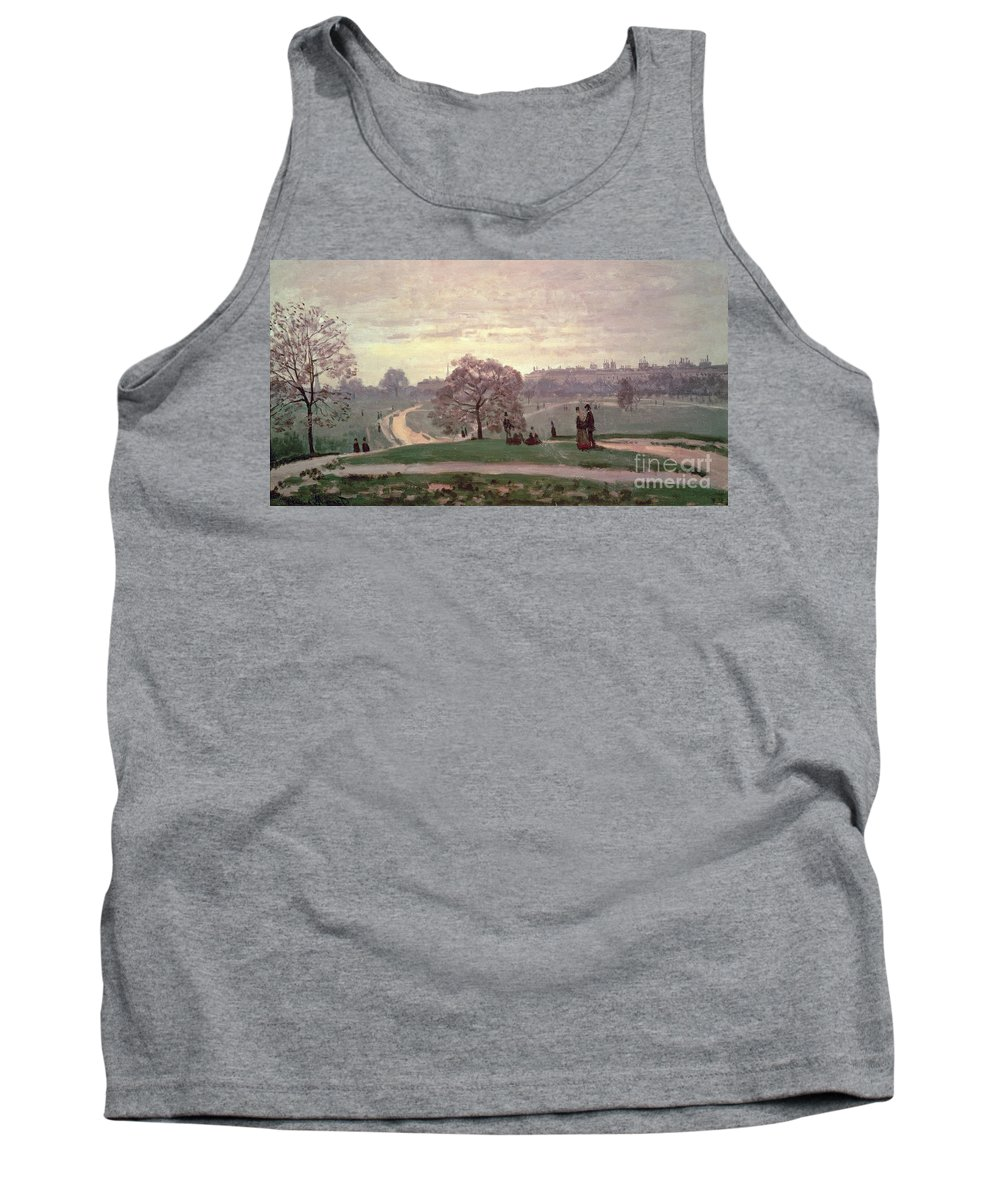 Hyde Park By Claude Monet (1840-1926) Tank Top featuring the painting Hyde Park by Claude Monet