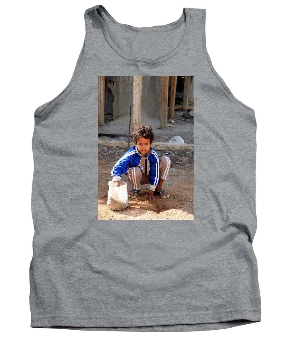 Hurghada Tank Top featuring the photograph I Am Doing Something by Jez C Self