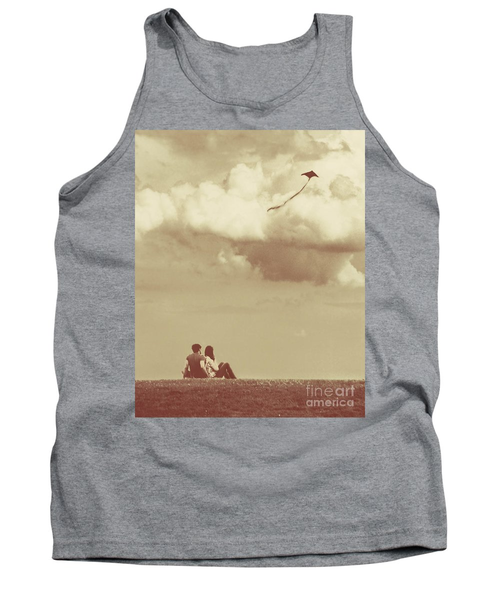 Dipasquale Tank Top featuring the photograph I Had A Dream I Could Fly From the Highest Swing by Dana DiPasquale
