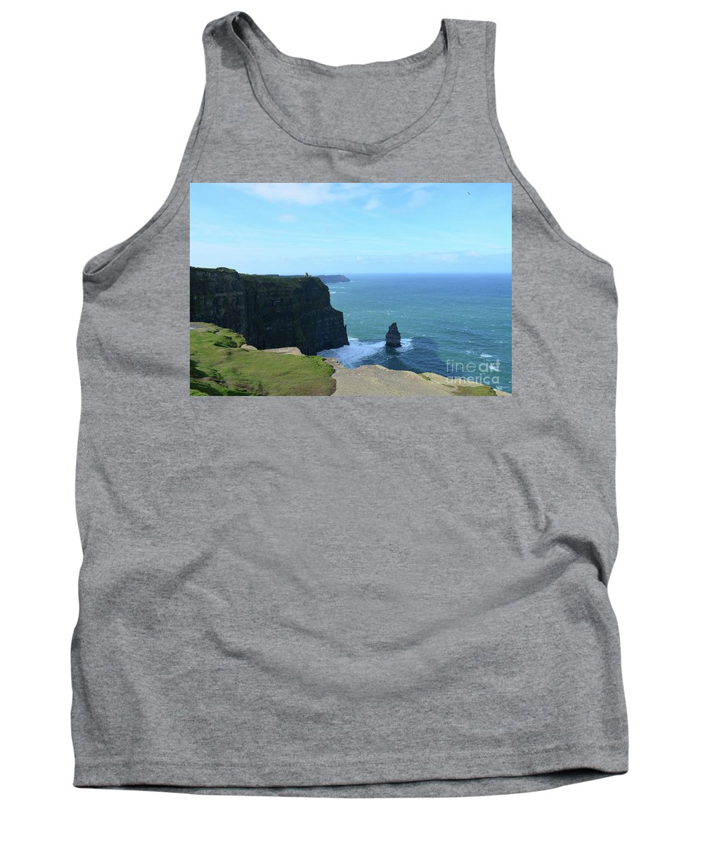 Needle Tank Top featuring the photograph Iconic Needle Rock Formation And The Cliff's Of Moher by DejaVu Designs