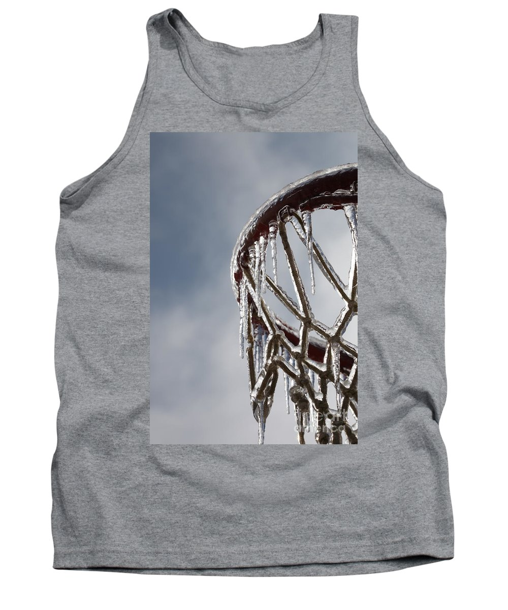 Basketball Tank Top featuring the photograph Icy Hoops by Nadine Rippelmeyer