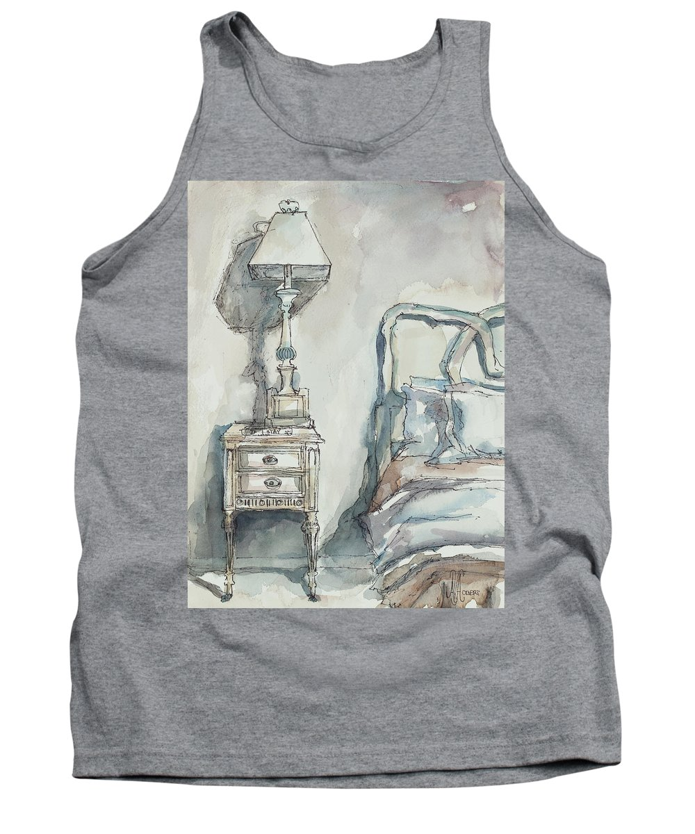 Bedroom Tank Top featuring the painting Simply Feminine by Ava Obert