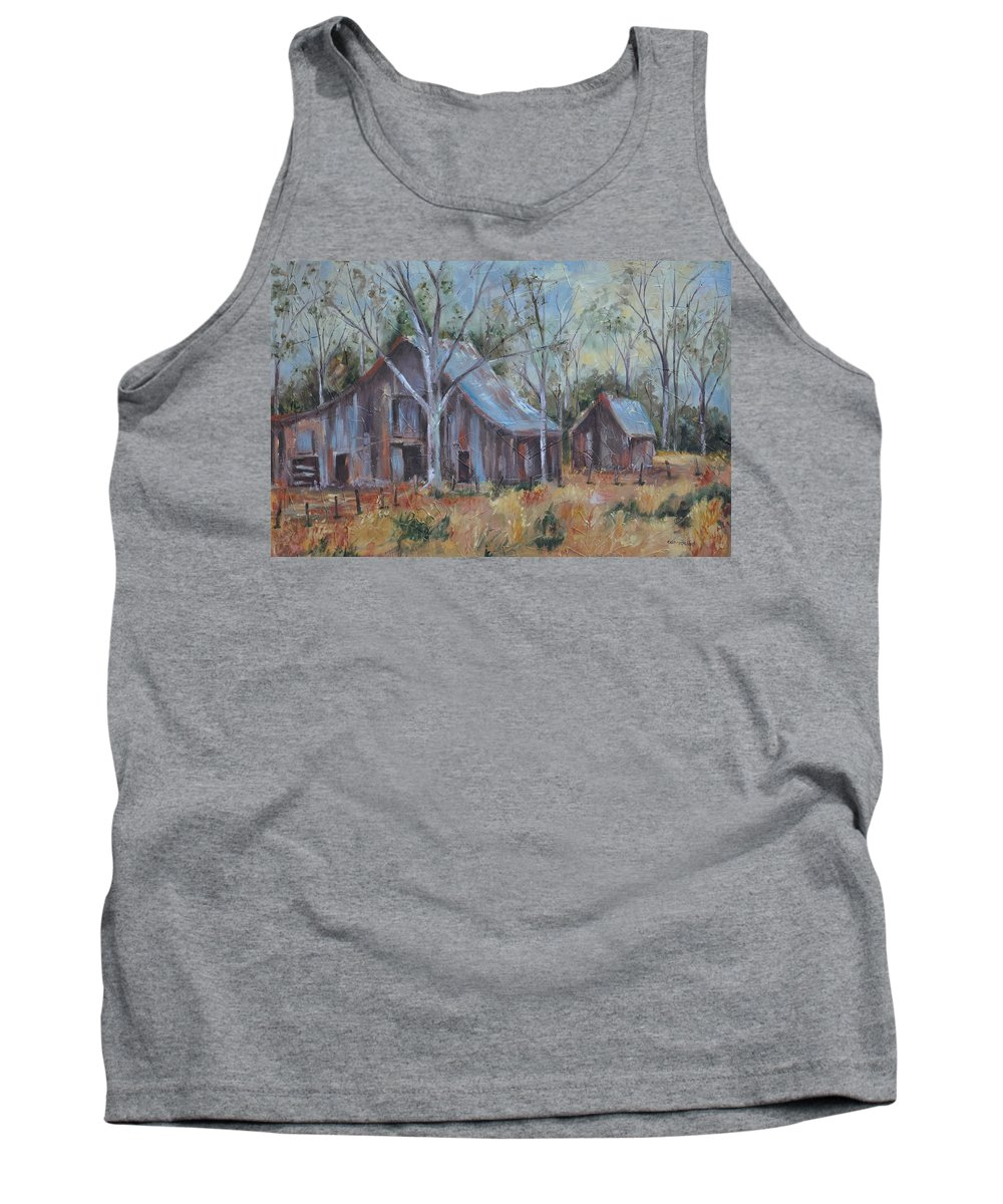 Barns Tank Top featuring the painting If They Could Speak by Ginger Concepcion