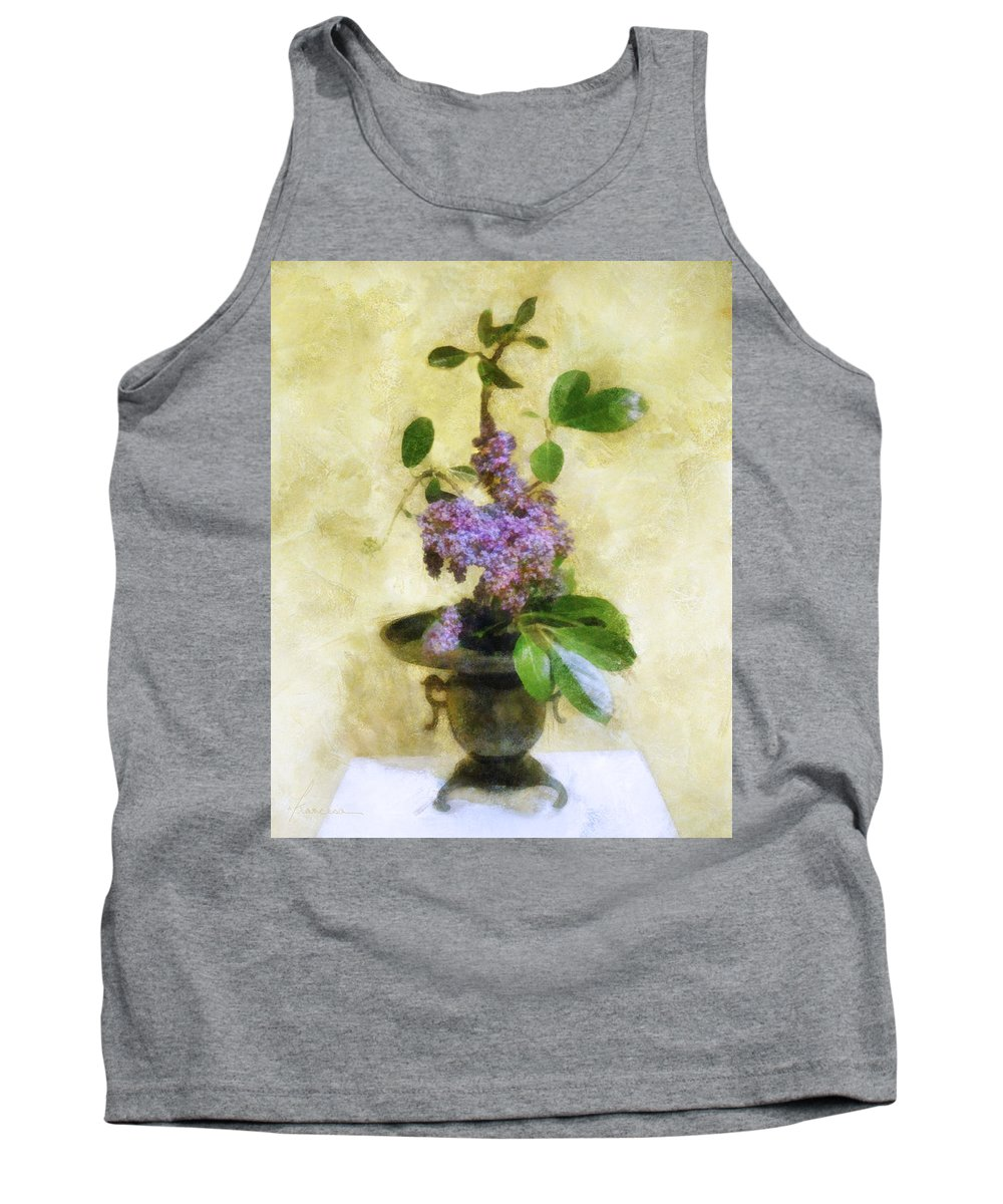 Lilacs Tank Top featuring the digital art Ikebana Lilacs by Francesa Miller