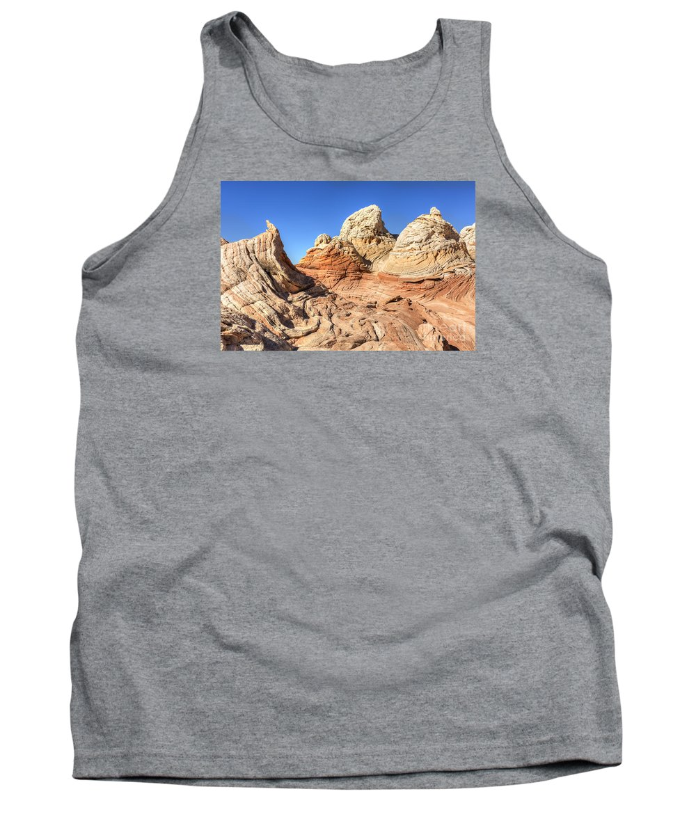 Arizona Tank Top featuring the photograph Impossible Rock Formations In The White Pocket by Colin D Young