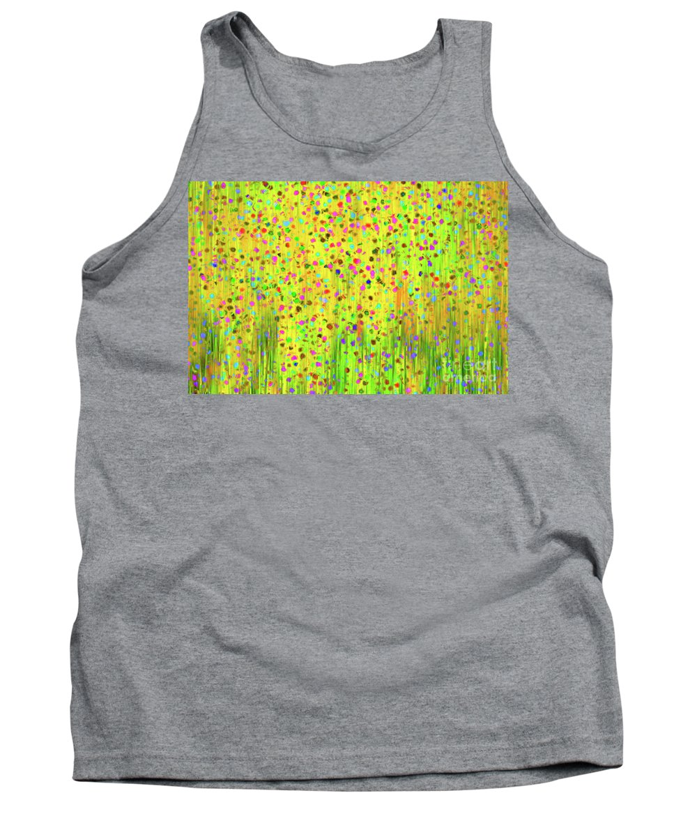 Impressionist Tank Top featuring the digital art Impressionist Meadow by Silvia Ganora