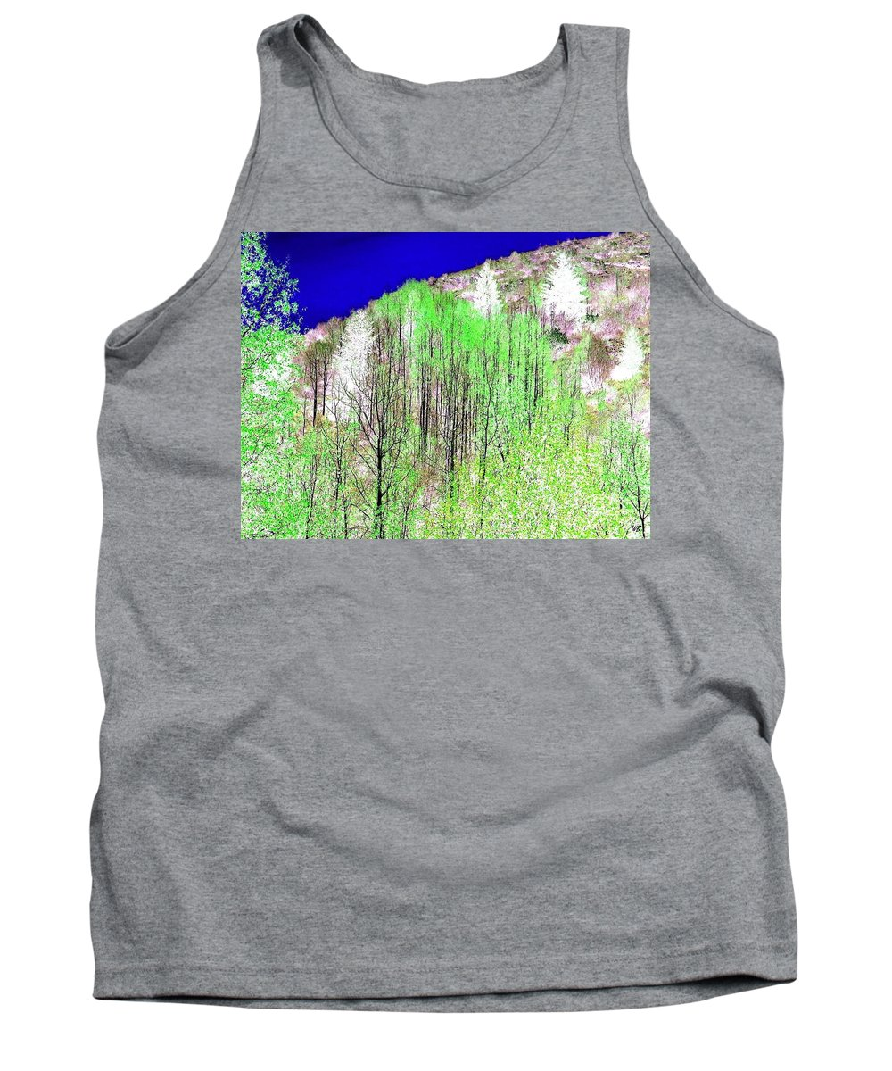 Impressions Tank Top featuring the digital art Impressions 12 by Will Borden