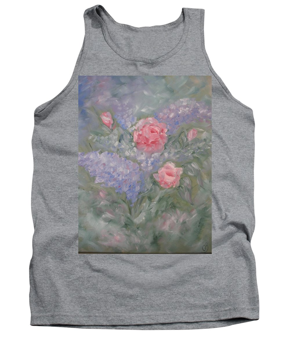 Flowers Tank Top featuring the painting In Bloom by Carrie Mayotte