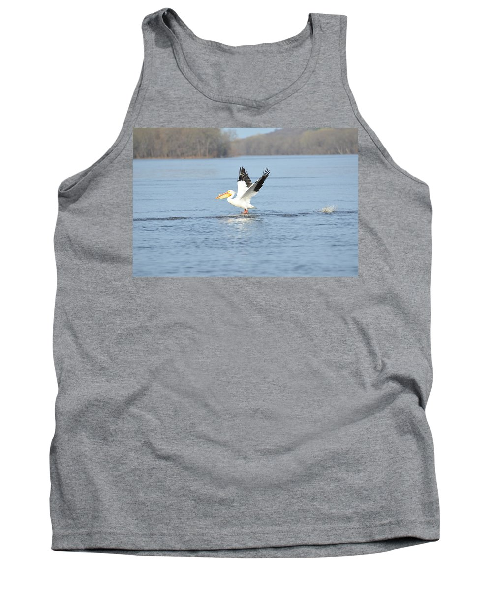 Mississippi River Tank Top featuring the photograph In Flight by Tammy Mutka