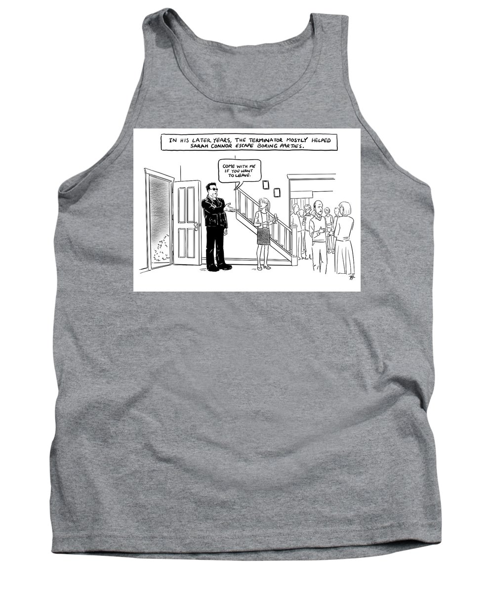In His Later Years Tank Top featuring the drawing In His Later Years by Pia Guerra