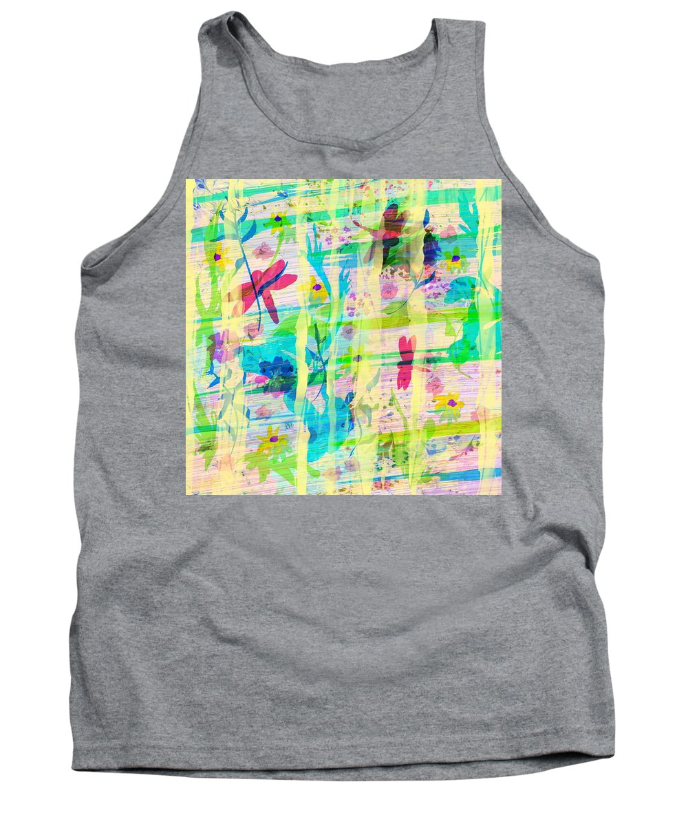 Abstract Tank Top featuring the digital art In The Garden by Rachel Christine Nowicki