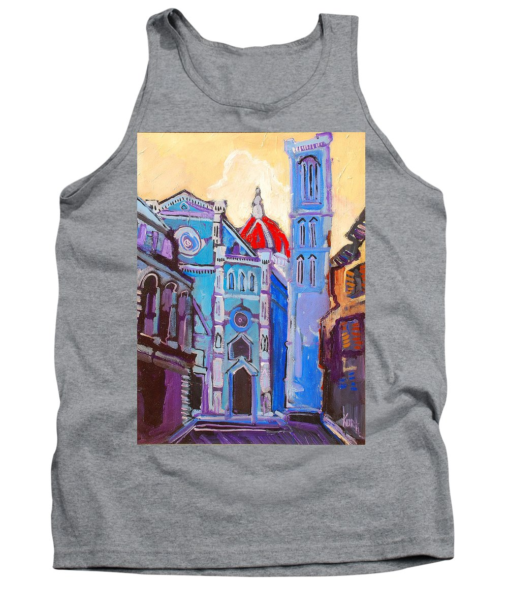 Florence Tank Top featuring the painting In The Middle Of by Kurt Hausmann