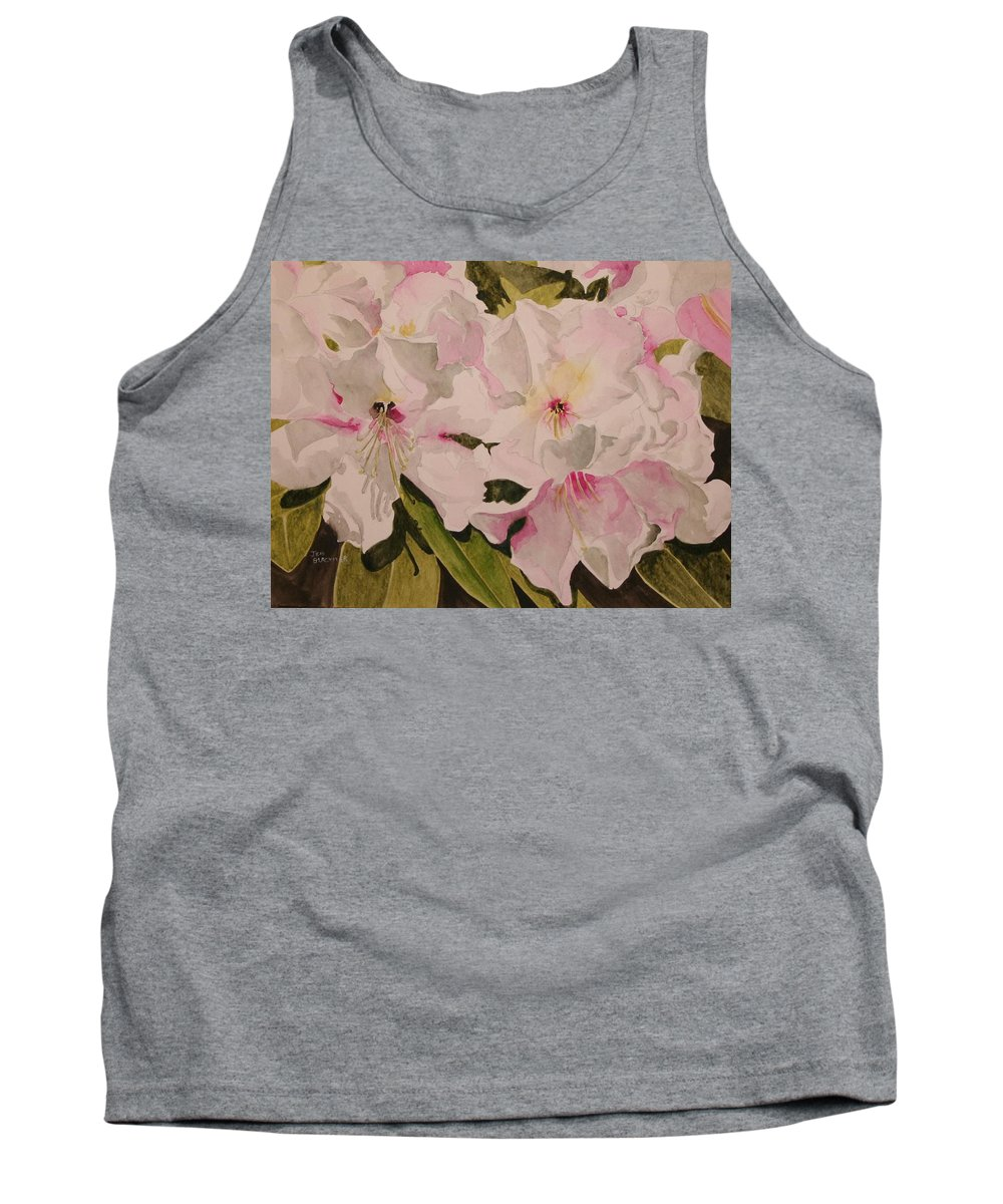 Pink Tank Top featuring the painting In The Pink by Jean Blackmer