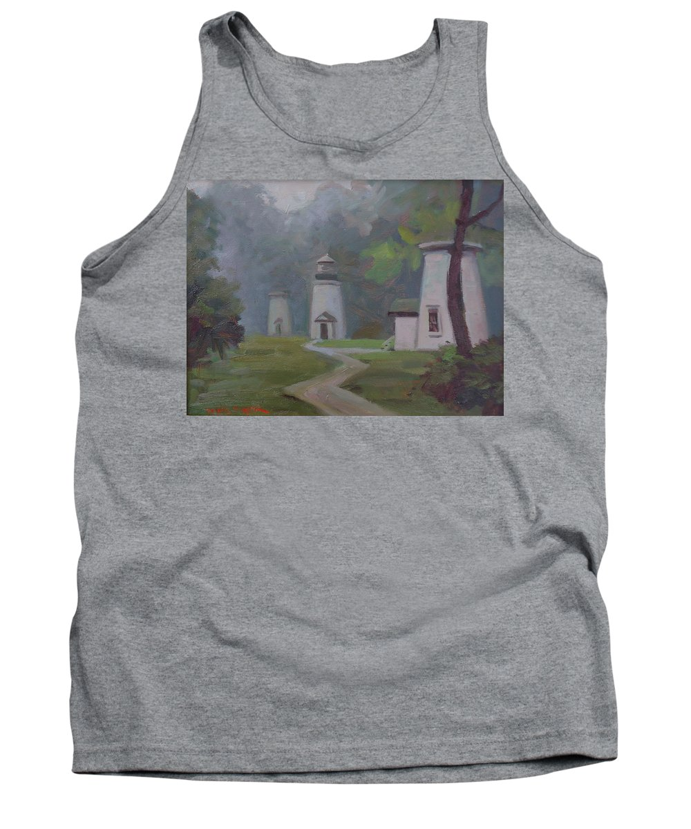Lighthouses Tank Top featuring the painting In Their Element by Dianne Panarelli Miller