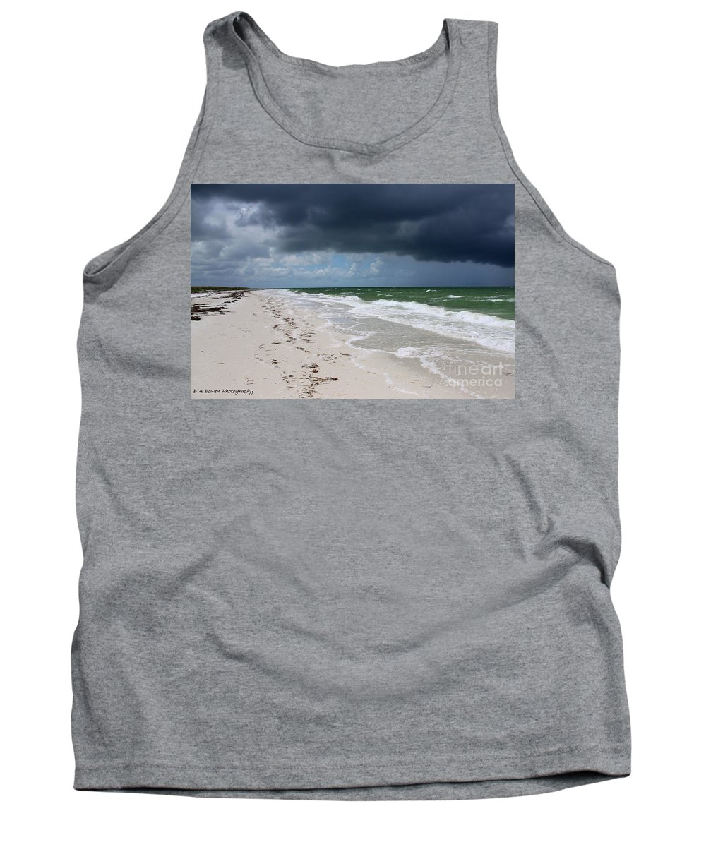 Beach Tank Top featuring the photograph Incoming Storm by Barbara Bowen
