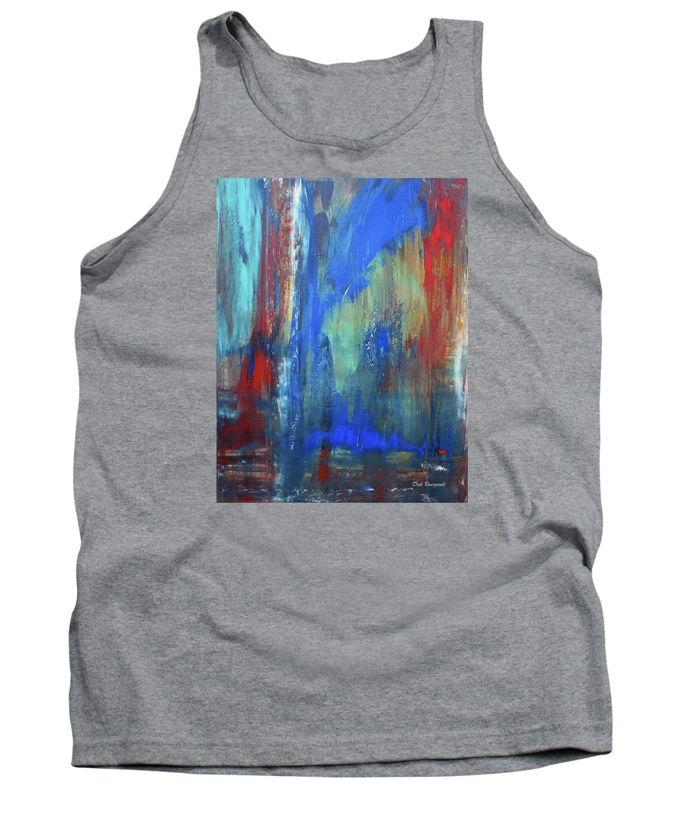 Abstract Tank Top featuring the painting Indecision by Dick Bourgault