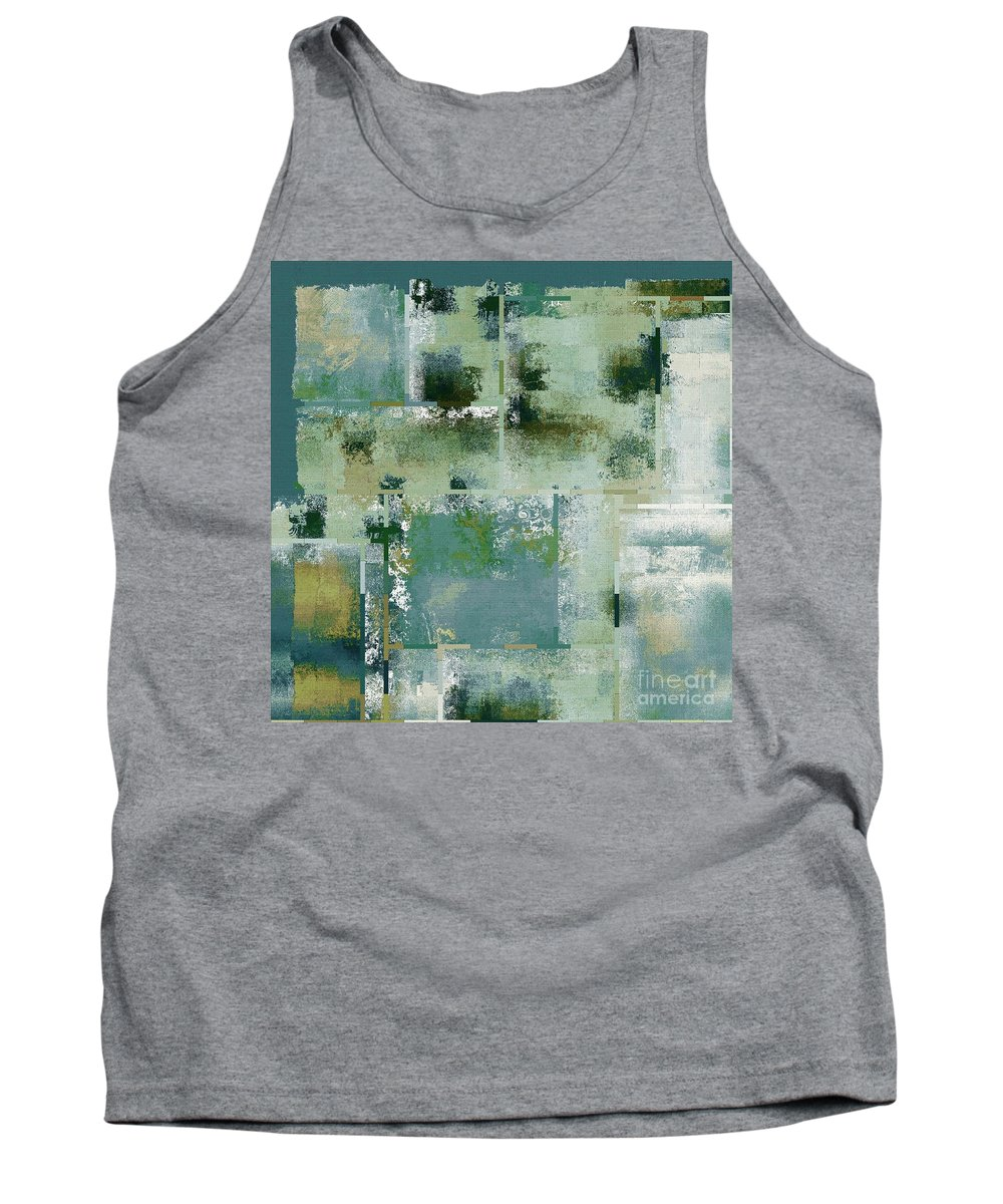 Abstract Tank Top featuring the digital art Industrial Abstract - 17t by Variance Collections