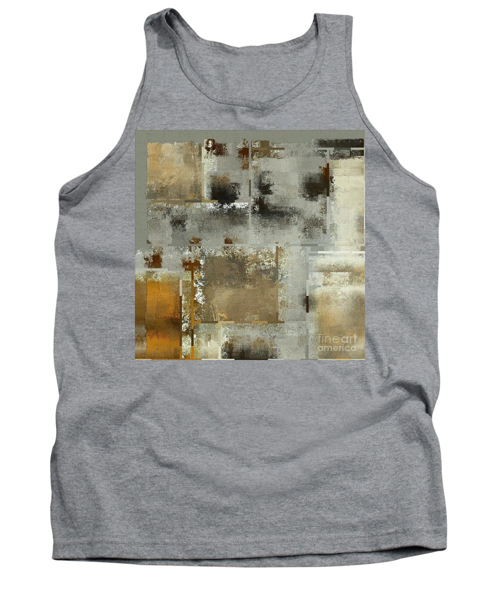Abstract Tank Top featuring the digital art Industrial Abstract - 24t by Variance Collections