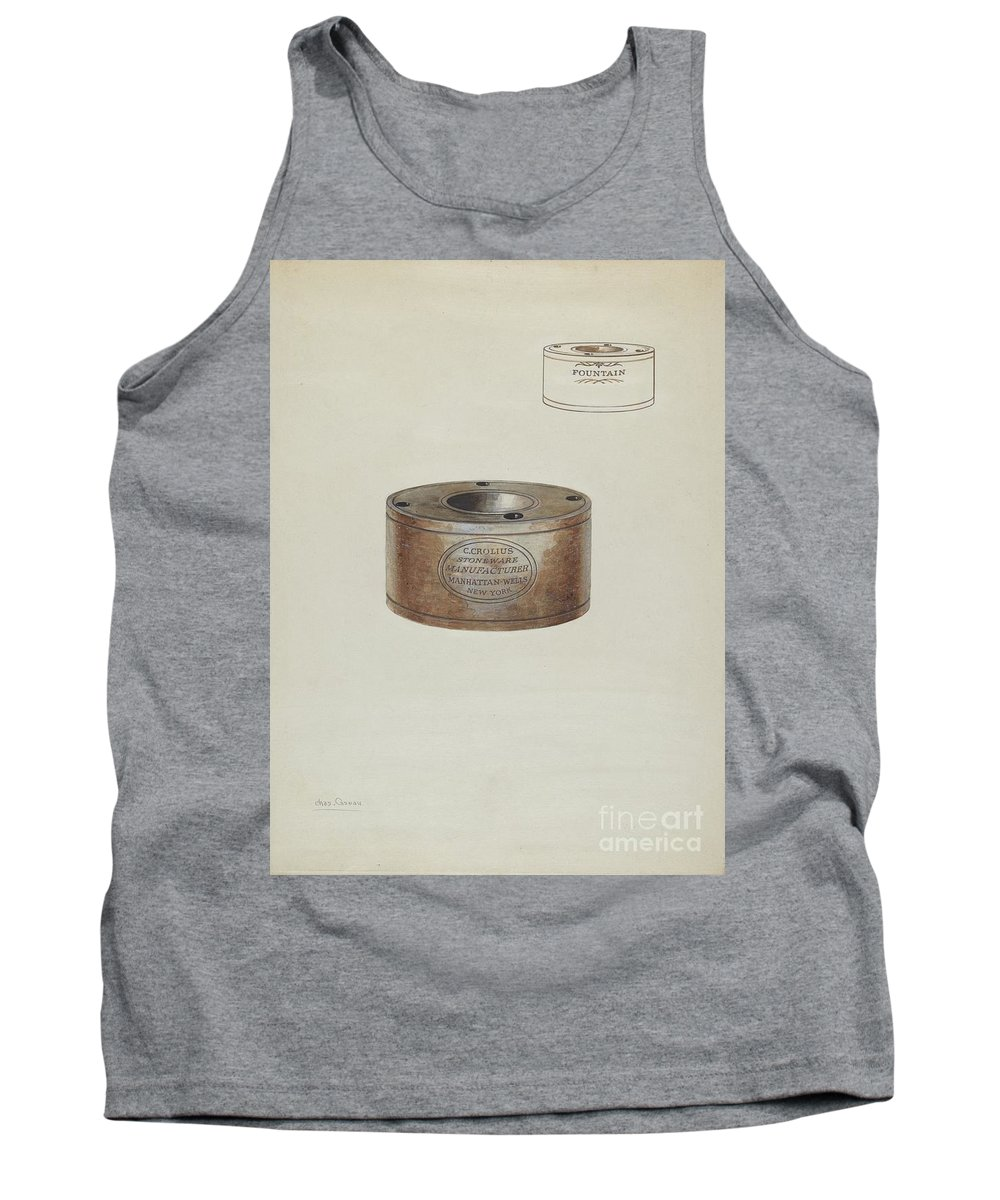 Tank Top featuring the drawing Inkwell by Charles Caseau