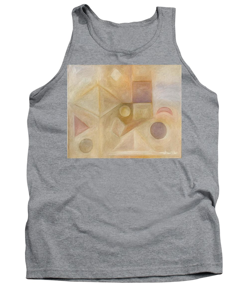 Brushstroke Tank Top featuring the painting Inside The Box2 by Judith Chantler